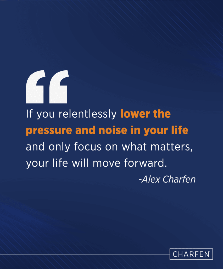 lower pressure and noise